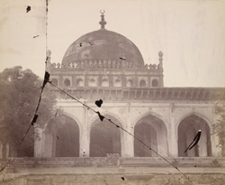 Close view of the central portion of the screen of the east façade of the Jami Masjid, Bijapur.